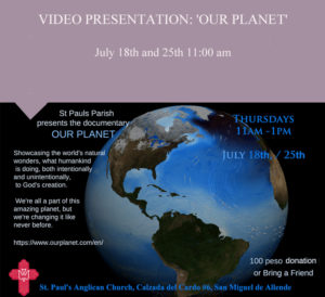 "Video presentation of ""Our Planet"" @ St Paul's Church"